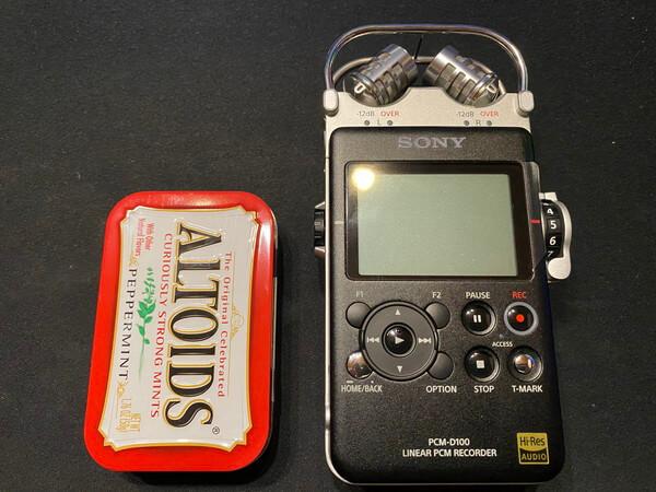 PCM-D100の見た目:大きさ比較
